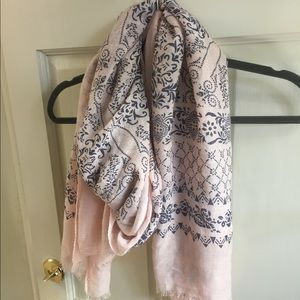 Accessories - Pink and Navy Paisley Scarf